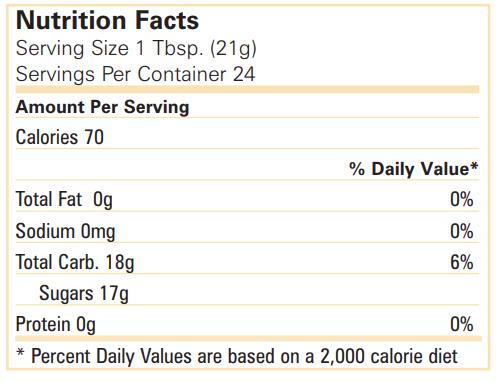 جدول القيمة الغذائية لفوريفر بي هني