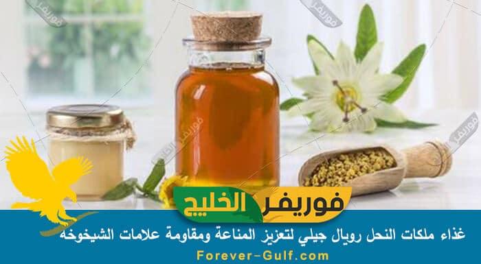 غذاء ملكات النحل رويال جيلي لتعزيز المناعة ومقاومة علامات الشيخوخة